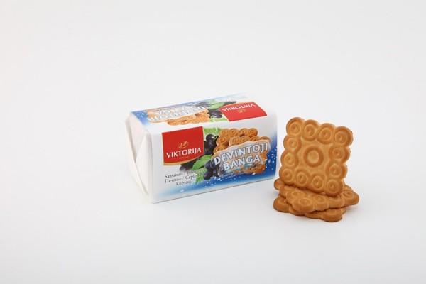 """Devintoji banga"" sugar biscuits with raisins"