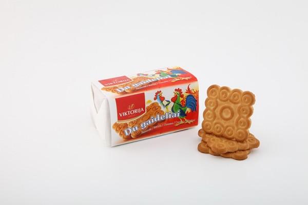 """Du gaideliai"" sugar biscuits with cardamom"