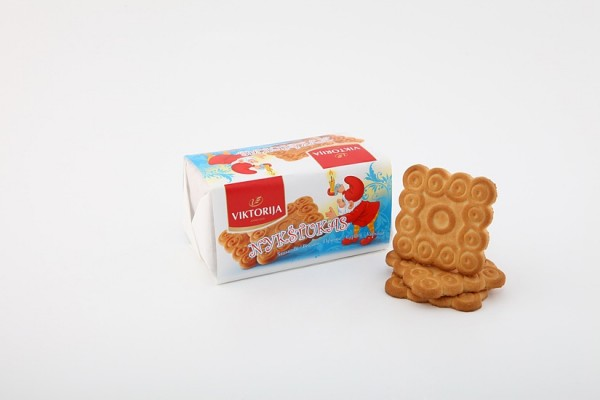 """Nykštukas"" sugar biscuits with vanillin"