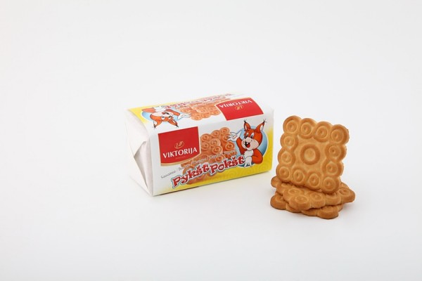 """Pykšt pokšt"" sugar biscuits with wheaten bran"