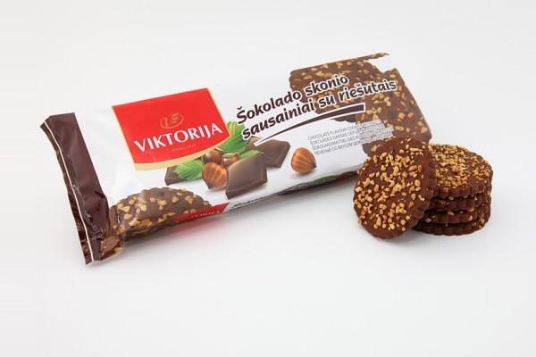 «Viktorija» печенье co вкусом шоколада с орехами