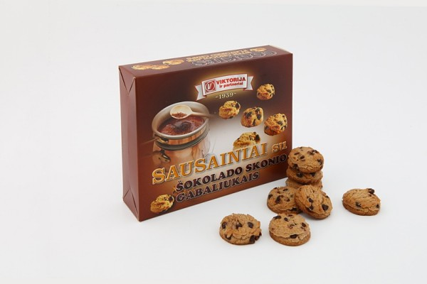 "Cookies ""With chocolate flavored chips"""