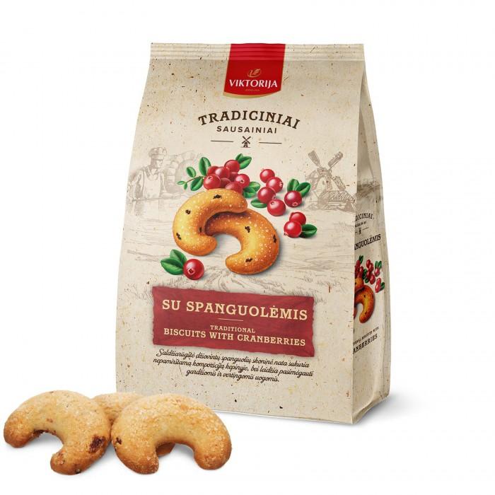 Sausainiai su spanguolėmis