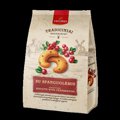 Biscuits with cranberries