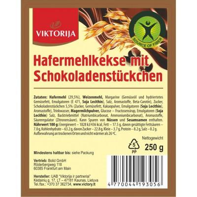 Hafermehlkekse mit Schokoladenstücken