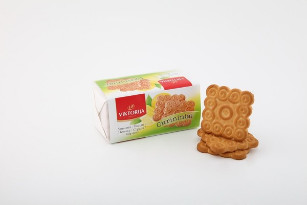 """Citrininiai"" sugar biscuits with lemon flavor"